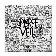 Pierce The Veil Music Band Group Fabric Art Cloth Poster Tile Coasters