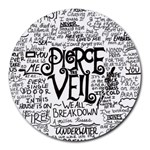 Pierce The Veil Music Band Group Fabric Art Cloth Poster Round Mousepads Front