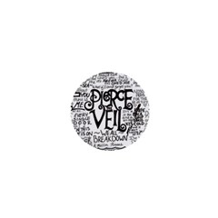 Pierce The Veil Music Band Group Fabric Art Cloth Poster 1  Mini Buttons