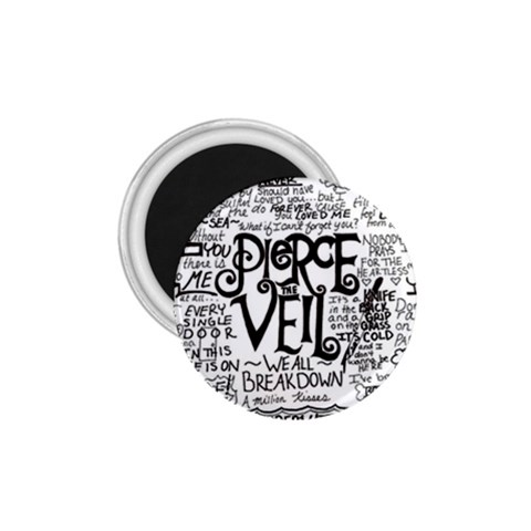 Pierce The Veil Music Band Group Fabric Art Cloth Poster 1.75  Magnets