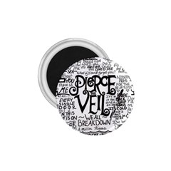 Pierce The Veil Music Band Group Fabric Art Cloth Poster 1 75  Magnets