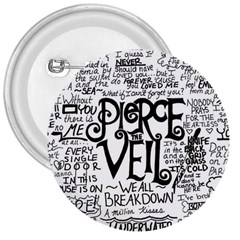 Pierce The Veil Music Band Group Fabric Art Cloth Poster 3  Buttons