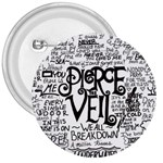 Pierce The Veil Music Band Group Fabric Art Cloth Poster 3  Buttons Front