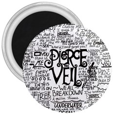 Pierce The Veil Music Band Group Fabric Art Cloth Poster 3  Magnets