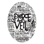Pierce The Veil Music Band Group Fabric Art Cloth Poster Ornament (Oval)  Front