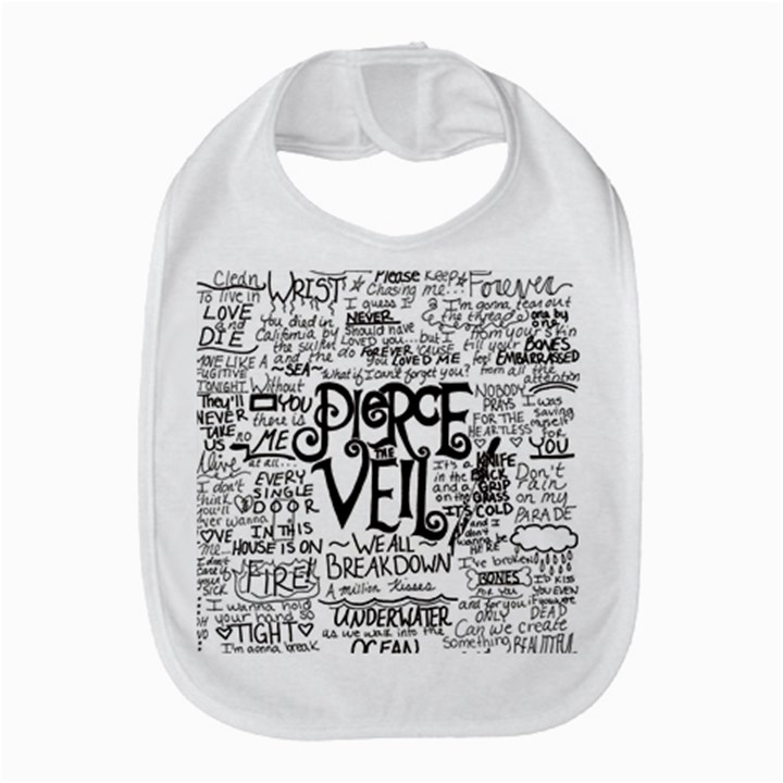 Pierce The Veil Music Band Group Fabric Art Cloth Poster Bib