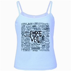 Pierce The Veil Music Band Group Fabric Art Cloth Poster Baby Blue Spaghetti Tank