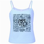 Pierce The Veil Music Band Group Fabric Art Cloth Poster Baby Blue Spaghetti Tank Front