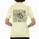 Pierce The Veil Music Band Group Fabric Art Cloth Poster Women s Yellow T-Shirt Back