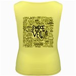 Pierce The Veil Music Band Group Fabric Art Cloth Poster Women s Yellow Tank Top Back