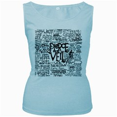 Pierce The Veil Music Band Group Fabric Art Cloth Poster Women s Baby Blue Tank Top