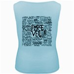 Pierce The Veil Music Band Group Fabric Art Cloth Poster Women s Baby Blue Tank Top Back