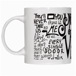Pierce The Veil Music Band Group Fabric Art Cloth Poster White Mugs Left