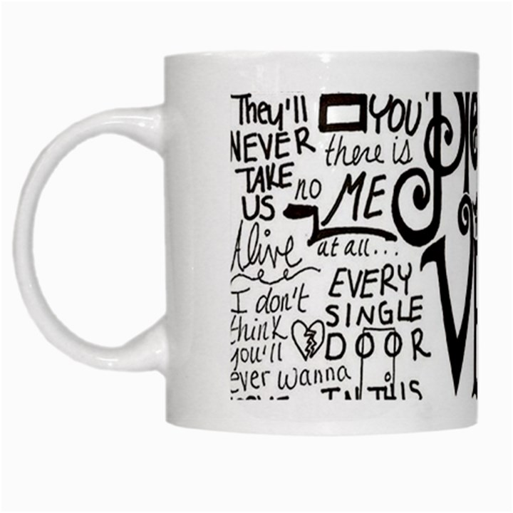 Pierce The Veil Music Band Group Fabric Art Cloth Poster White Mugs