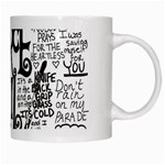 Pierce The Veil Music Band Group Fabric Art Cloth Poster White Mugs Right