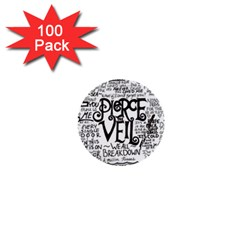 Pierce The Veil Music Band Group Fabric Art Cloth Poster 1  Mini Buttons (100 pack)