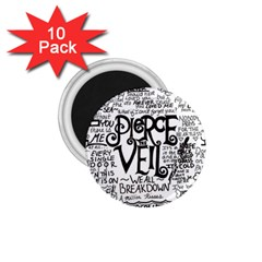 Pierce The Veil Music Band Group Fabric Art Cloth Poster 1 75  Magnets (10 Pack)