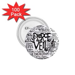 Pierce The Veil Music Band Group Fabric Art Cloth Poster 1 75  Buttons (100 Pack)