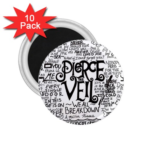 Pierce The Veil Music Band Group Fabric Art Cloth Poster 2.25  Magnets (10 pack)