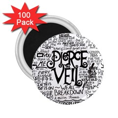 Pierce The Veil Music Band Group Fabric Art Cloth Poster 2 25  Magnets (100 Pack)