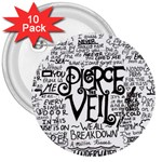 Pierce The Veil Music Band Group Fabric Art Cloth Poster 3  Buttons (10 pack)  Front