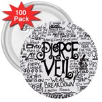 Pierce The Veil Music Band Group Fabric Art Cloth Poster 3  Buttons (100 pack)  Front
