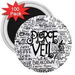 Pierce The Veil Music Band Group Fabric Art Cloth Poster 3  Magnets (100 pack) Front