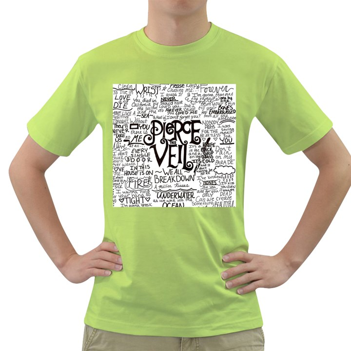 Pierce The Veil Music Band Group Fabric Art Cloth Poster Green T-Shirt