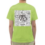 Pierce The Veil Music Band Group Fabric Art Cloth Poster Green T-Shirt Back