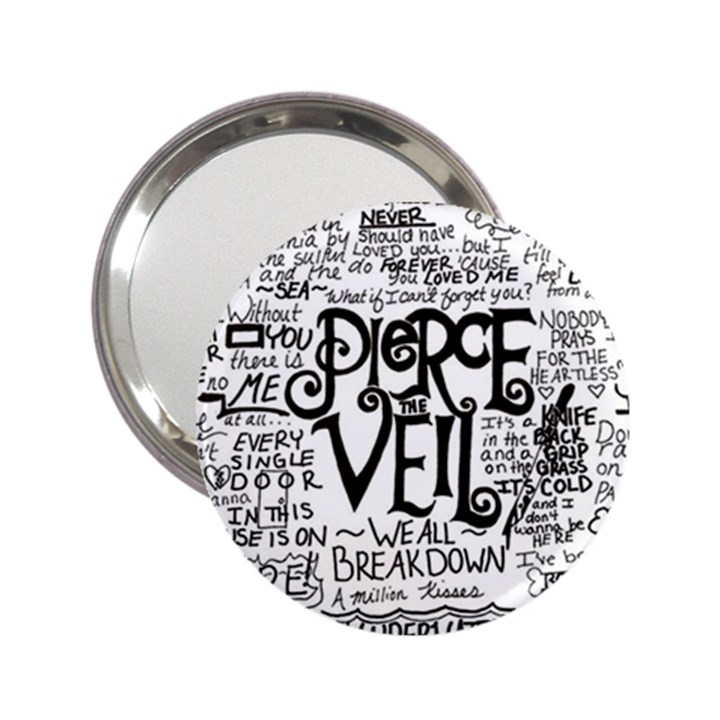 Pierce The Veil Music Band Group Fabric Art Cloth Poster 2.25  Handbag Mirrors