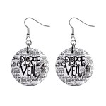 Pierce The Veil Music Band Group Fabric Art Cloth Poster Mini Button Earrings Front