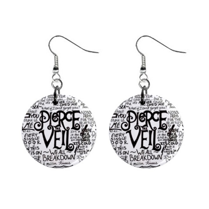 Pierce The Veil Music Band Group Fabric Art Cloth Poster Mini Button Earrings