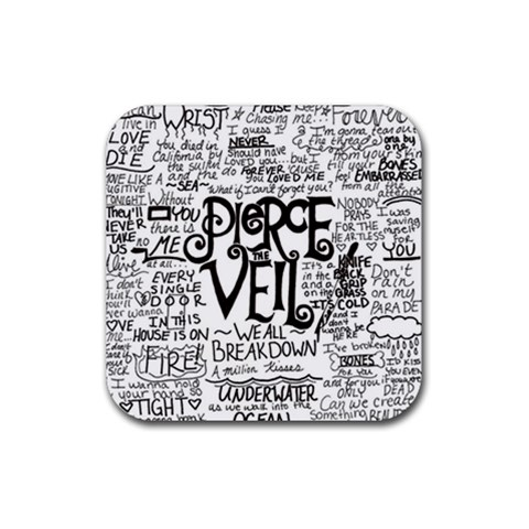 Pierce The Veil Music Band Group Fabric Art Cloth Poster Rubber Coaster (Square)
