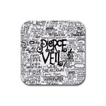 Pierce The Veil Music Band Group Fabric Art Cloth Poster Rubber Square Coaster (4 pack)  Front