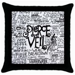 Pierce The Veil Music Band Group Fabric Art Cloth Poster Throw Pillow Case (Black) Front