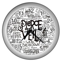 Pierce The Veil Music Band Group Fabric Art Cloth Poster Wall Clocks (Silver)