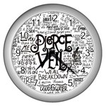 Pierce The Veil Music Band Group Fabric Art Cloth Poster Wall Clocks (Silver)  Front