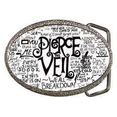 Pierce The Veil Music Band Group Fabric Art Cloth Poster Belt Buckles