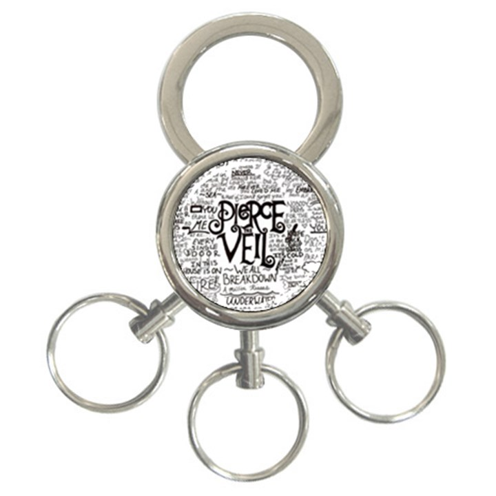 Pierce The Veil Music Band Group Fabric Art Cloth Poster 3-Ring Key Chains