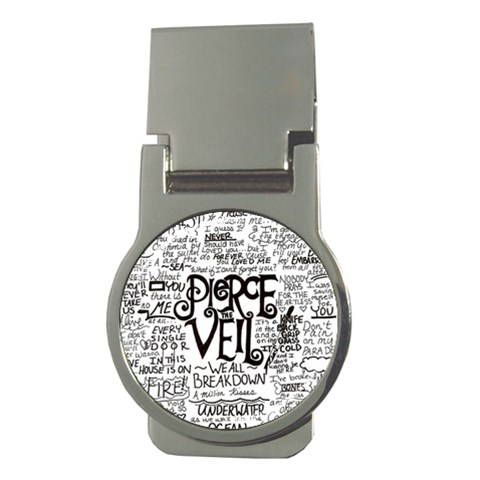 Pierce The Veil Music Band Group Fabric Art Cloth Poster Money Clips (Round)