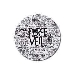 Pierce The Veil Music Band Group Fabric Art Cloth Poster Rubber Round Coaster (4 Pack)