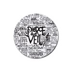 Pierce The Veil Music Band Group Fabric Art Cloth Poster Rubber Round Coaster (4 pack)  Front