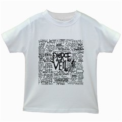 Pierce The Veil Music Band Group Fabric Art Cloth Poster Kids White T Shirts