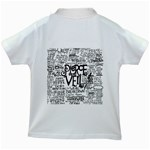Pierce The Veil Music Band Group Fabric Art Cloth Poster Kids White T-Shirts Back