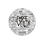 Pierce The Veil Music Band Group Fabric Art Cloth Poster Magnet 3  (Round) Front