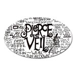 Pierce The Veil Music Band Group Fabric Art Cloth Poster Oval Magnet Front