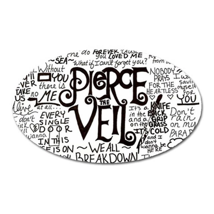 Pierce The Veil Music Band Group Fabric Art Cloth Poster Oval Magnet