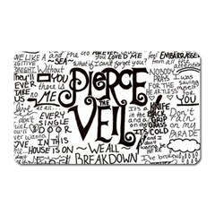 Pierce The Veil Music Band Group Fabric Art Cloth Poster Magnet (rectangular)