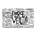 Pierce The Veil Music Band Group Fabric Art Cloth Poster Magnet (Rectangular) Front