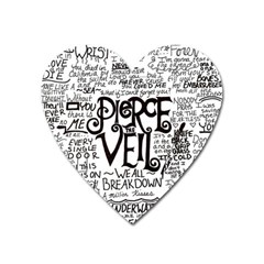 Pierce The Veil Music Band Group Fabric Art Cloth Poster Heart Magnet
